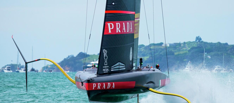 10/03/21 - Auckland (NZL) 36th America's Cup presented by Prada America's Cup Match - Race Day 1 Luna Rossa Prada Pirelli Team