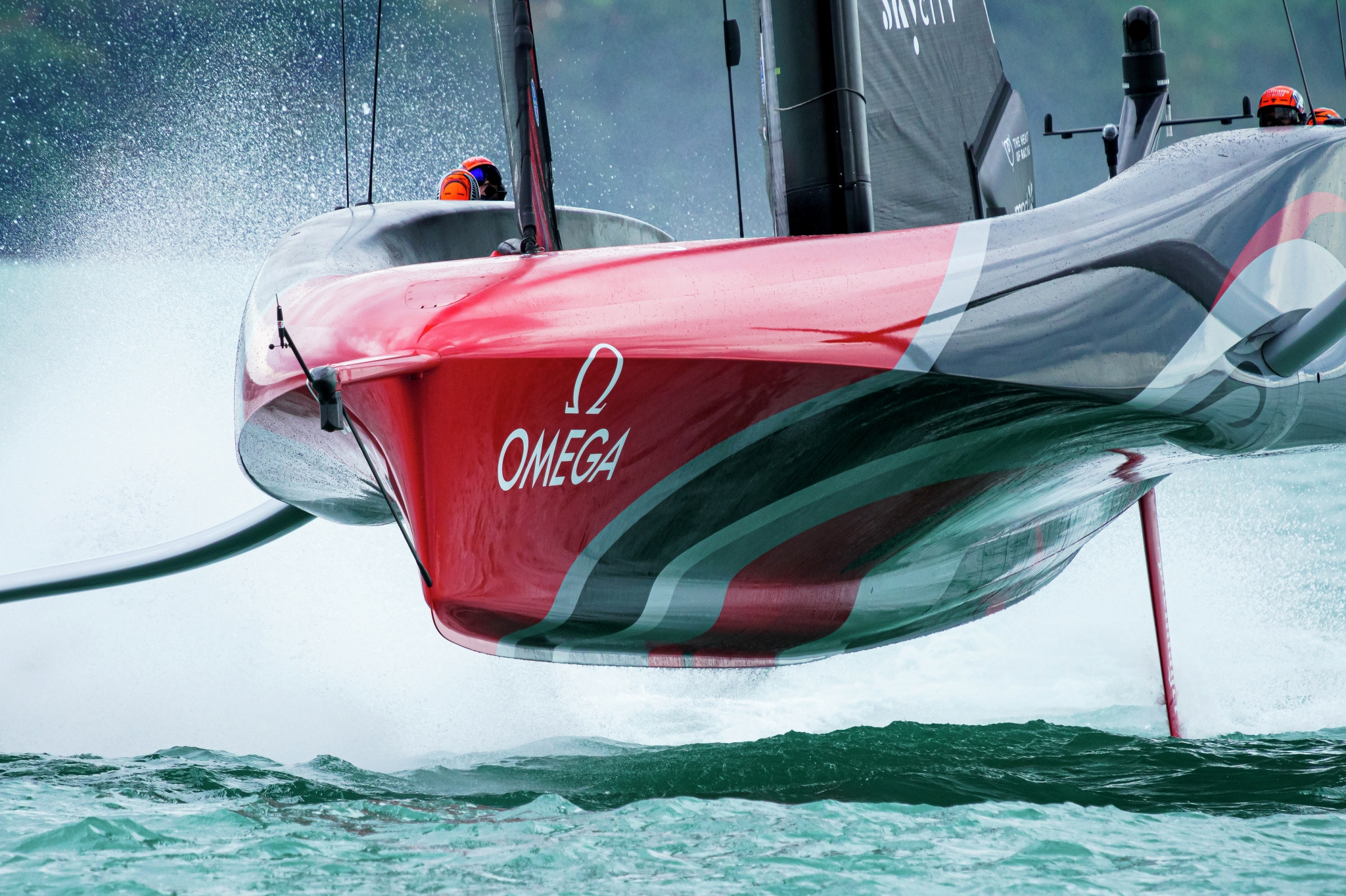 10/03/21 - Auckland (NZL) 36th America's Cup presented by Prada America's Cup Match - Race Day 1 Emirates Team New Zealand