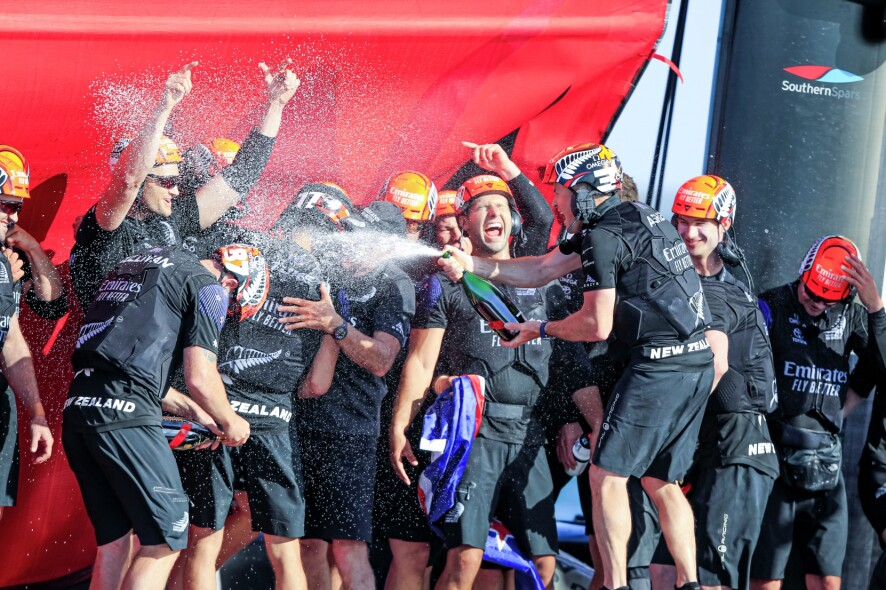 17/03/21 - Auckland (NZL) 36th America's Cup presented by Prada America's Cup Match - Race Day 7 Emirates Team New Zealand, G.H. Mumm Champagne