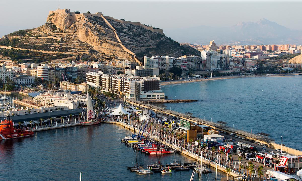 Alicante Stopover. Aerial views of the Race Village. 12 October, 2017.