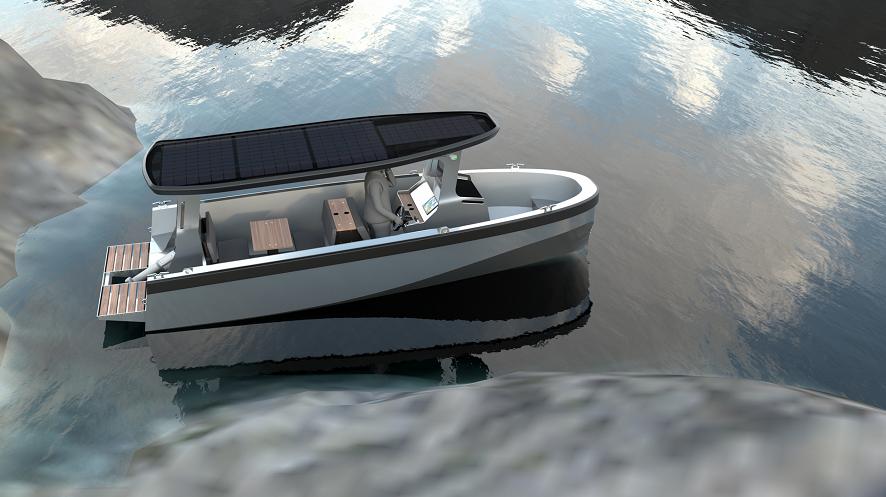 Freepower Solar boat