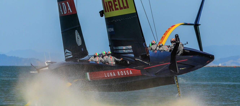17/12/20 - Auckland (NZL) 36th America's Cup presented by Prada Race Day 1 Luna Rossa Prada Pirelli Team